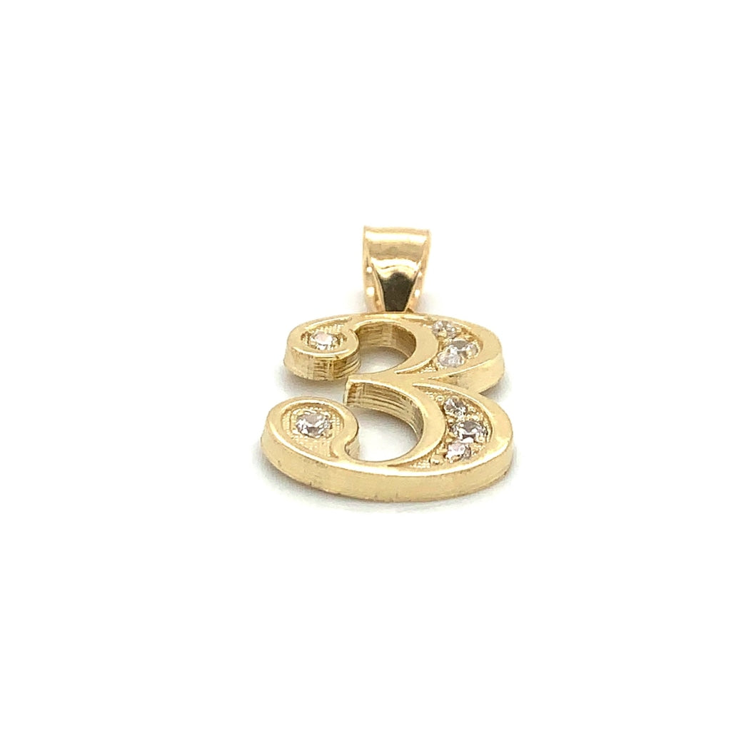 "10K Yellow Gold ""3"" Pendant"