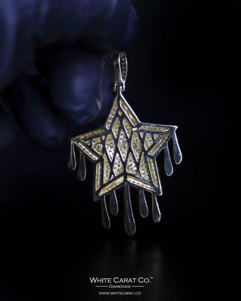 "4.26 CT. ""Drip Star"" Gold Pendant in 10K Gold"