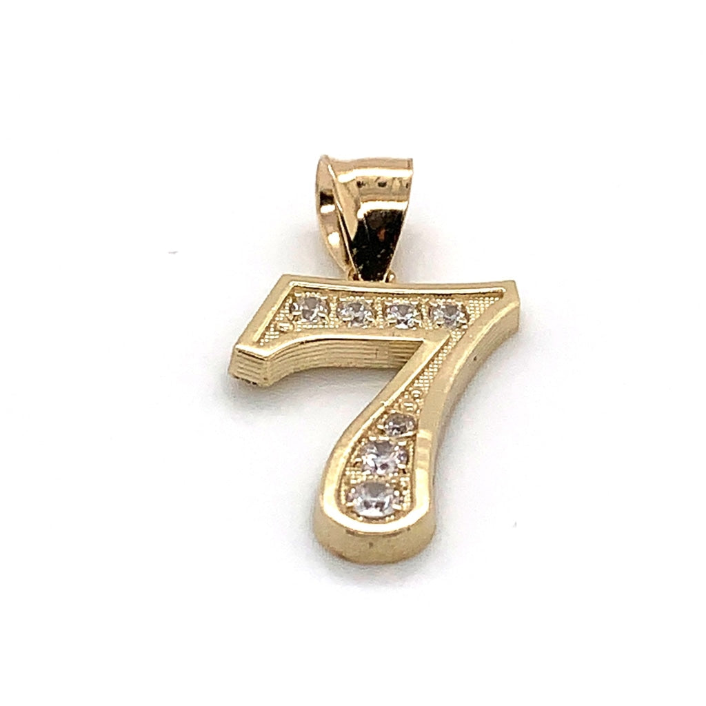 "10K Yellow Gold FX ""7"" Pendant"