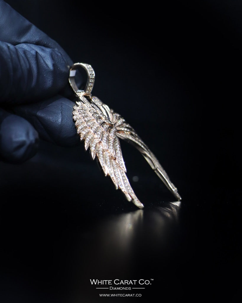 "1.85 CT. ""Angel Wings"" Gold Pendant in 14K Gold"