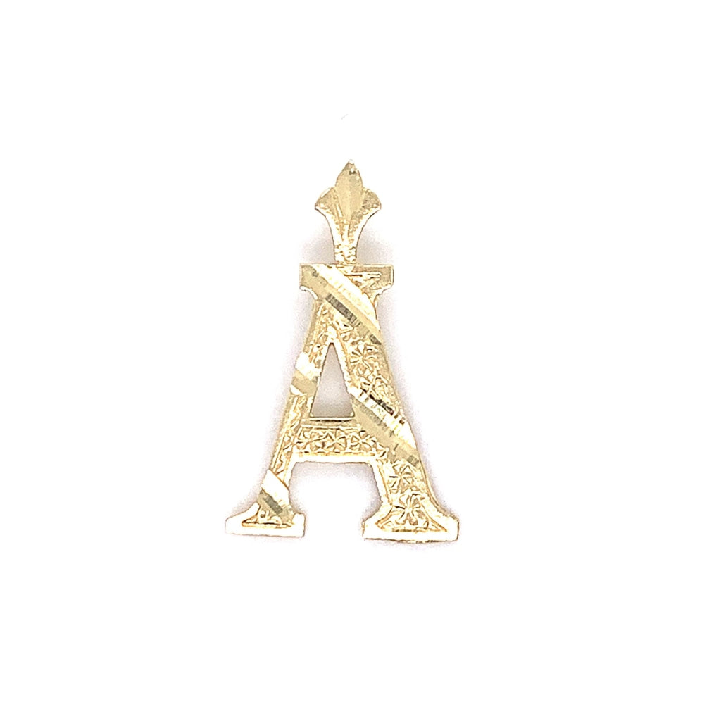 "10K Yellow Gold Diamond Cut ""A"" Pendant"