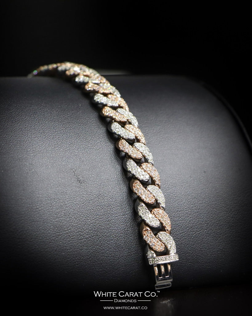 6.55 CT. Ladies' Diamond Bracelet in 14K Gold