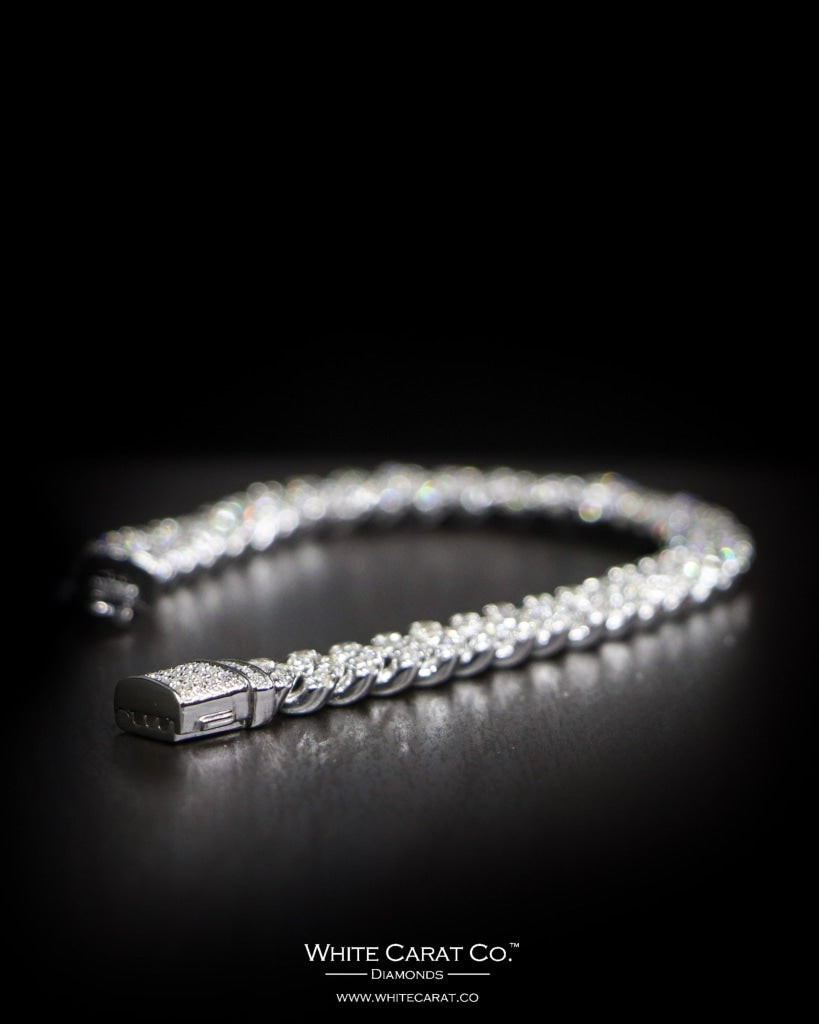 5.09 CT. Ladies' Diamond Bracelet in 14K Gold - White Carat - USA & Canada