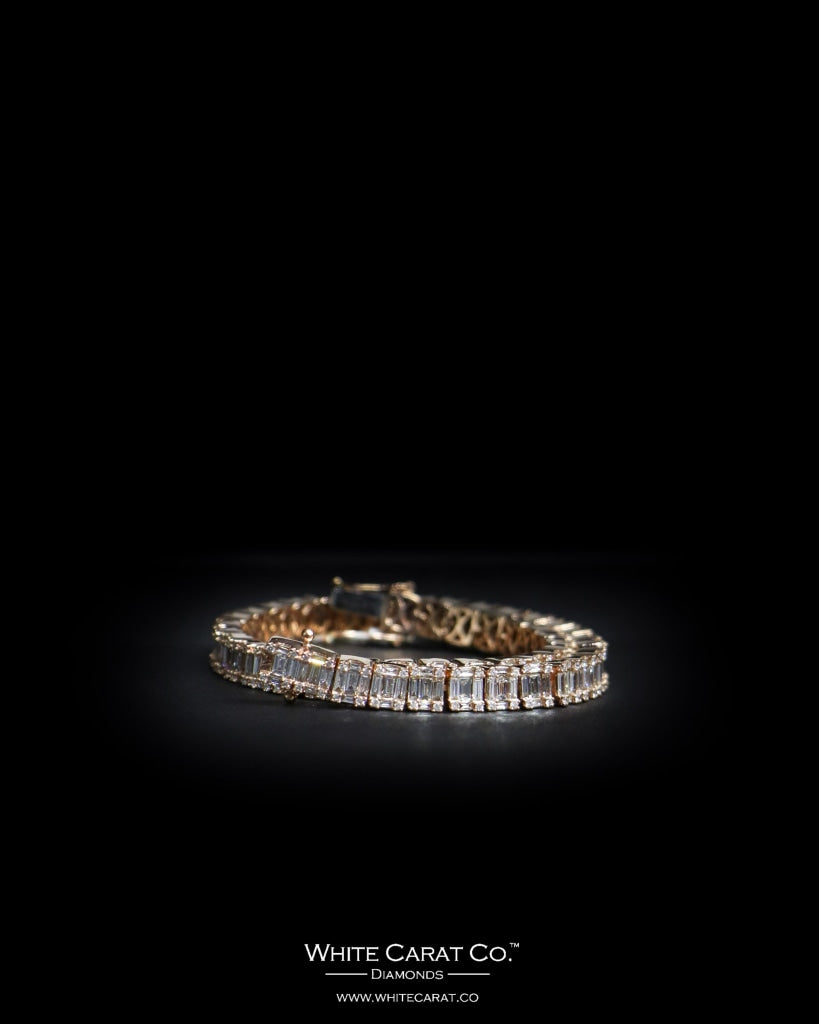 5.10 CT. Ladies' Diamond Bracelet in 14K Gold - White Carat Diamonds