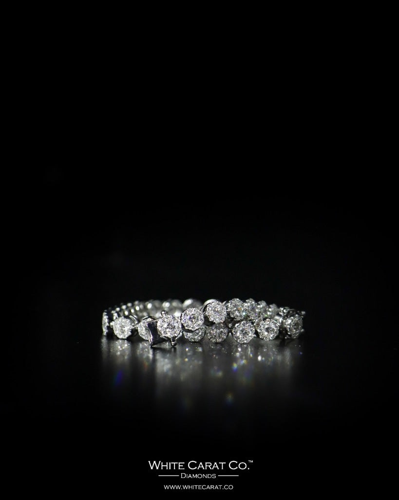 6.05 CT. Ladies' Diamond Bracelet in 14K Gold - White Carat - USA & Canada