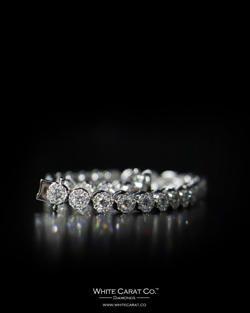 6.05 CT. Ladies' Diamond Bracelet in 14K Gold - White Carat Diamonds