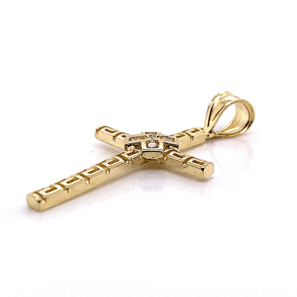 10K Yellow Gold CZ Versace Pendant