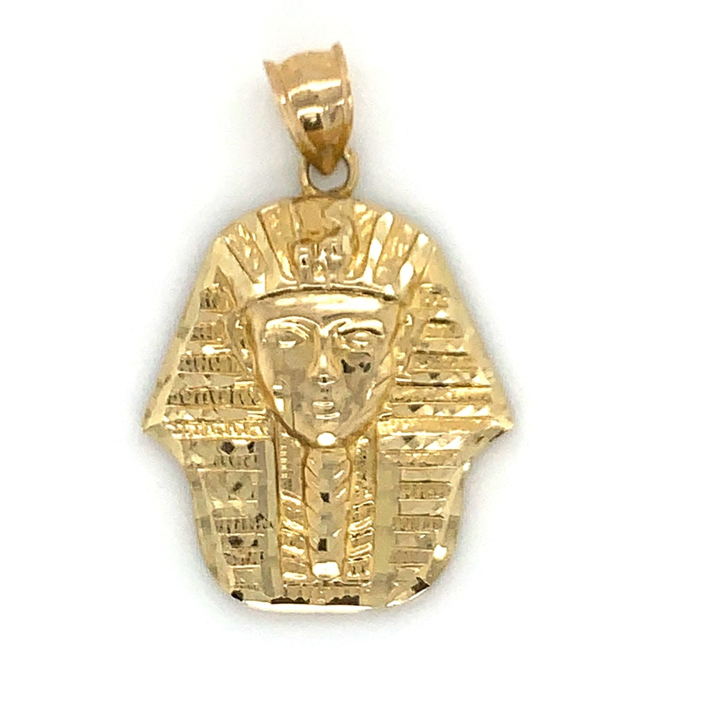 "10K Yellow Gold Sphinx Pendant, 1.2"" - White Carat Diamonds"