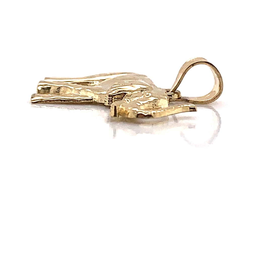 10k Yellow Gold Elephant Pendant - White Carat Diamonds