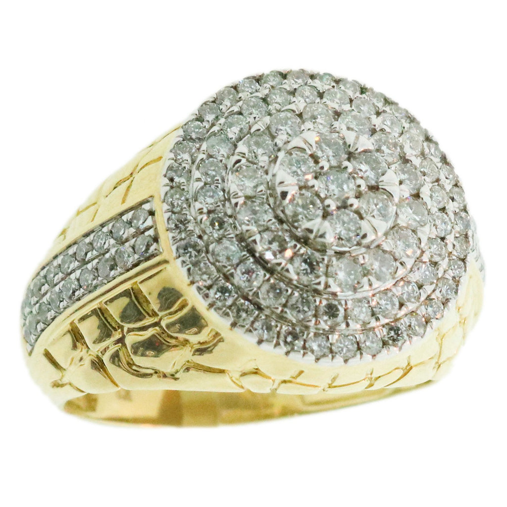 1.57 CT. Stepped Circle Diamond Ring in 10K Yellow Gold - White Carat - USA & Canada