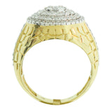 1.57 CT. Stepped Circle Diamond Ring in 10K Yellow Gold - White Carat Diamonds