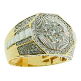 1.58 CT. Octgonal Diamond Ring in 10K Yellow Gold - White Carat Diamonds
