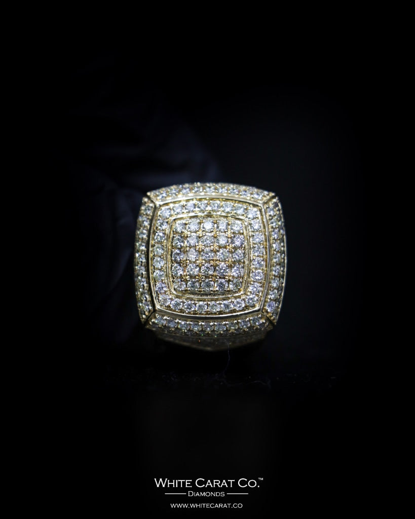 2.60 CT. Exclusive Diamond Men's Ring in 10K Gold - White Carat - USA & Canada