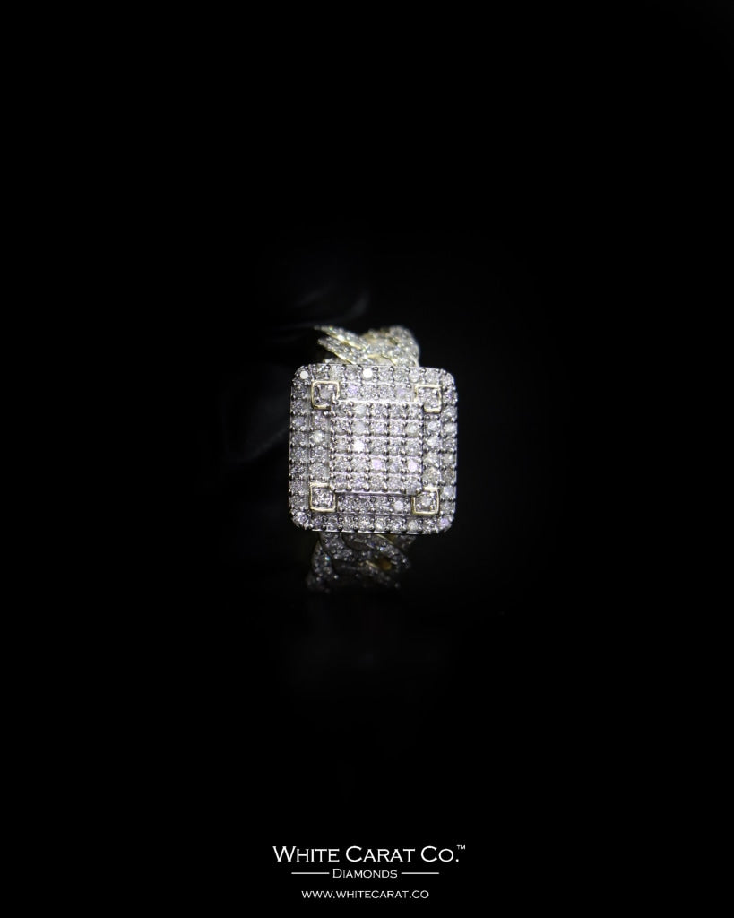 1.76 CT. Exclusive Diamond Men's Ring in 10K Gold - White Carat - USA & Canada