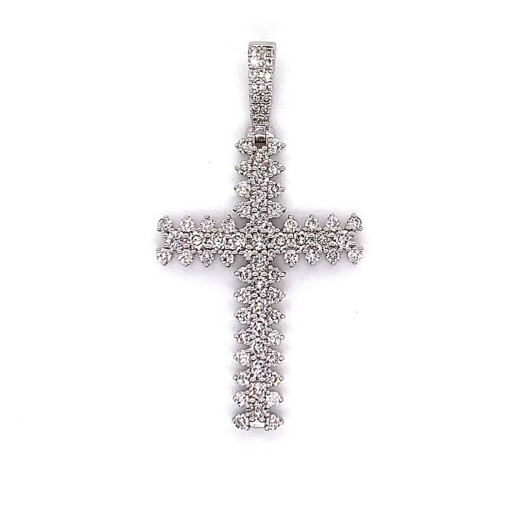 2.00CT. Diamond Cross in 14K White Gold* - White Carat - USA & Canada