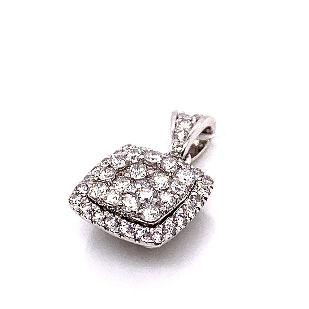 14K White Gold Diamond Pendant - White Carat Diamonds
