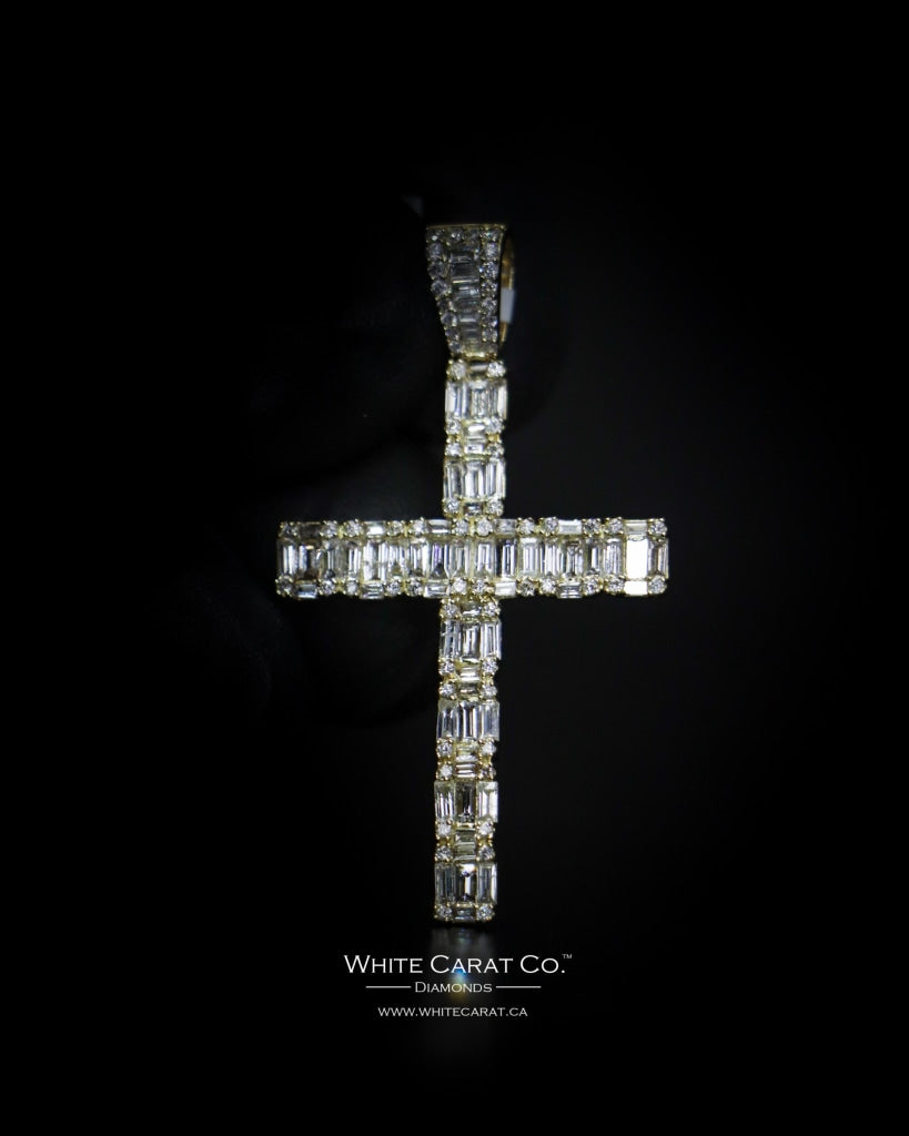 1.40 CT. Cross Diamond Pendant in 14K Gold
