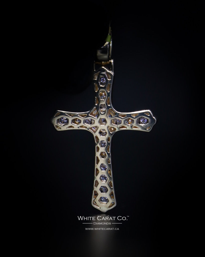 3.00 CT. Cross Diamond Pendant in 10K Gold - White Carat Diamonds