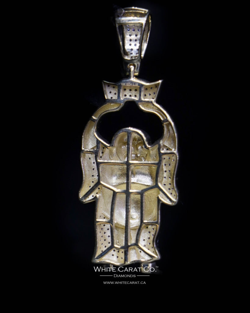 "0.38 CT. ""Majestic Standing Buddha"" Diamond Pendant in 10K Gold - White Carat - USA & Canada"