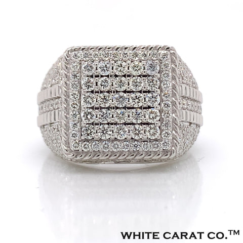 3.50 CT. VVS Diamond 14K Gold Ring - White Carat Diamonds