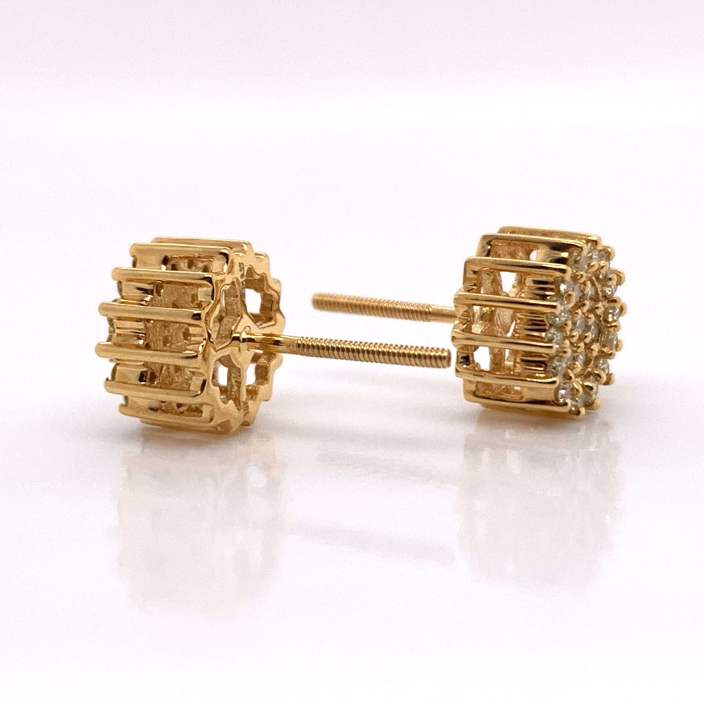 10K Yellow Gold Diamond Earrings