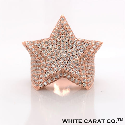9.00 CT. VVS Diamond Star Ring in Gold - White Carat - USA & Canada