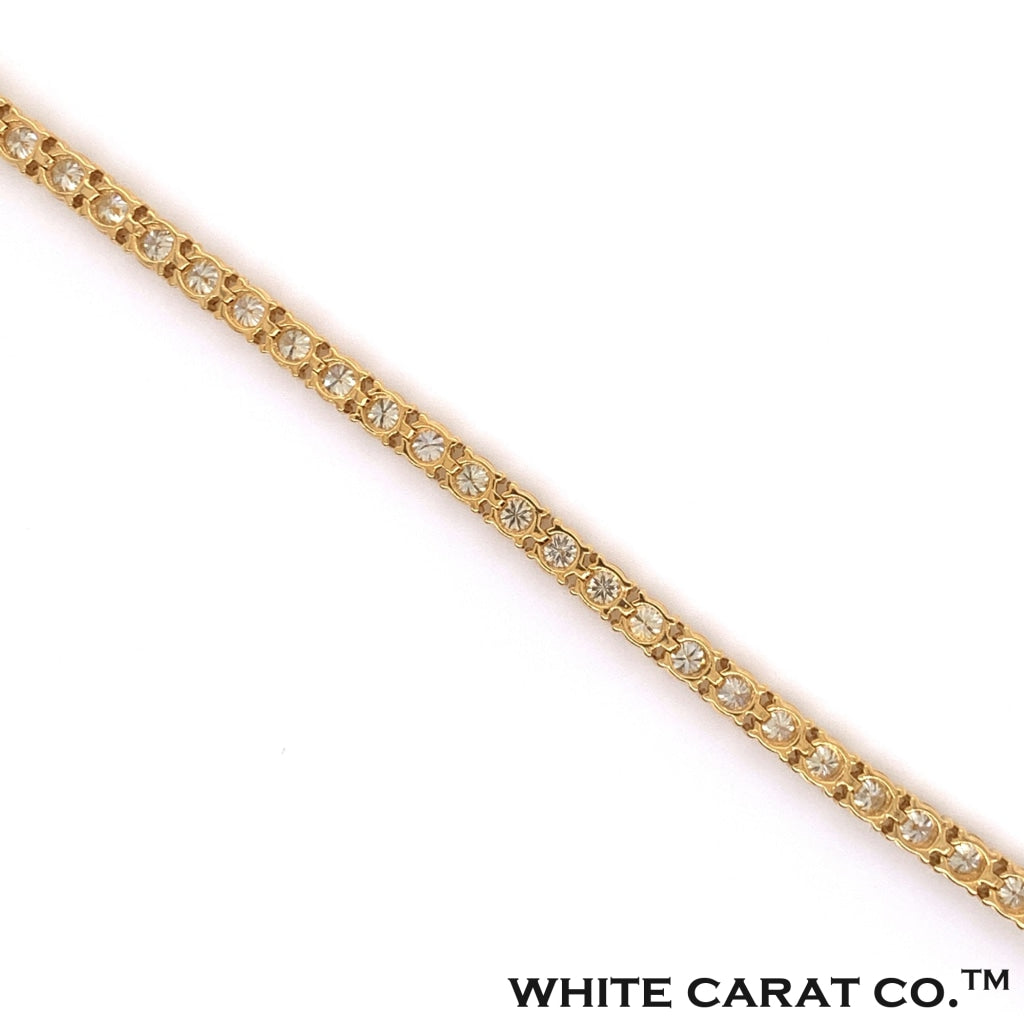 10K Yellow Gold Diamond Tennis Bracelet