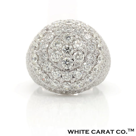 9.59 CT. VVS Diamond Regal Round Ring in Gold - White Carat - USA & Canada