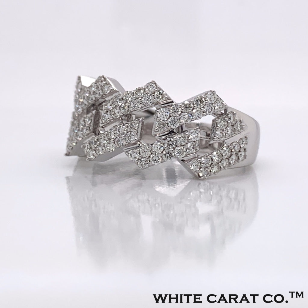 1.35CT Diamond 14K White Gold Ring - White Carat Diamonds