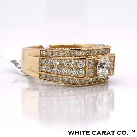 3.40 CT Diamond 14K Yellow Gold Ring - White Carat - USA & Canada