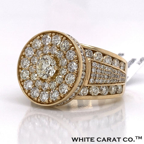 5.90CT Diamond 10K Yellow Gold Ring - White Carat Diamonds