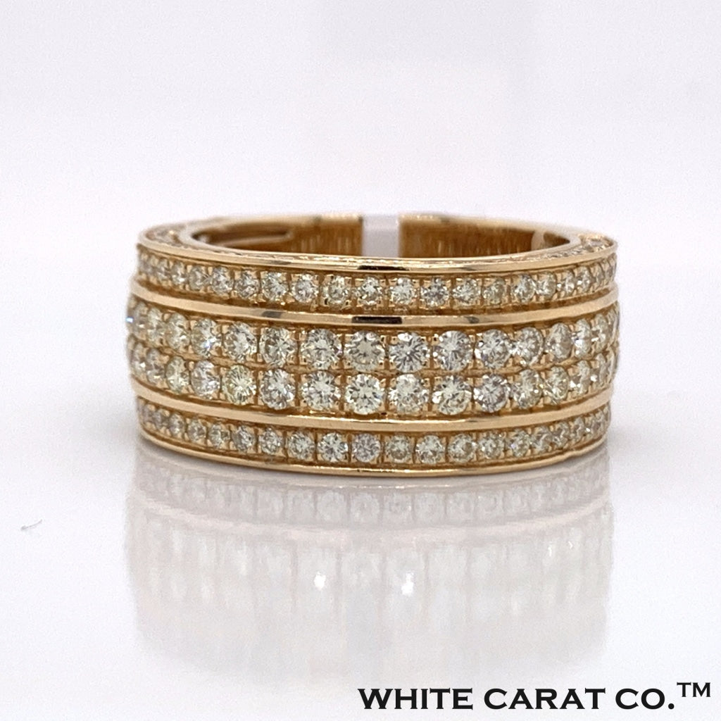 3.00CT Diamond Double Layer Band in  14K Gold - White Carat Diamonds