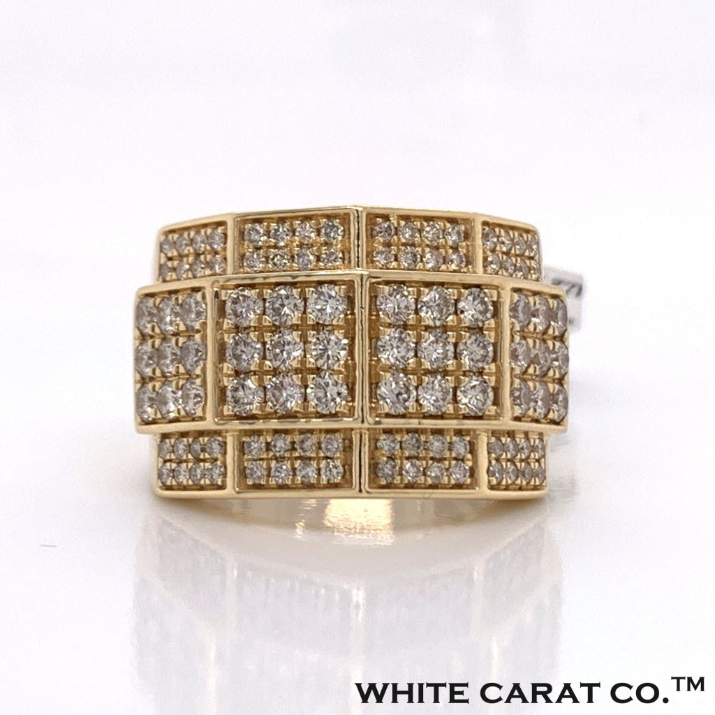 2.50CT Diamond 14K Yellow Gold Ring - White Carat Diamonds