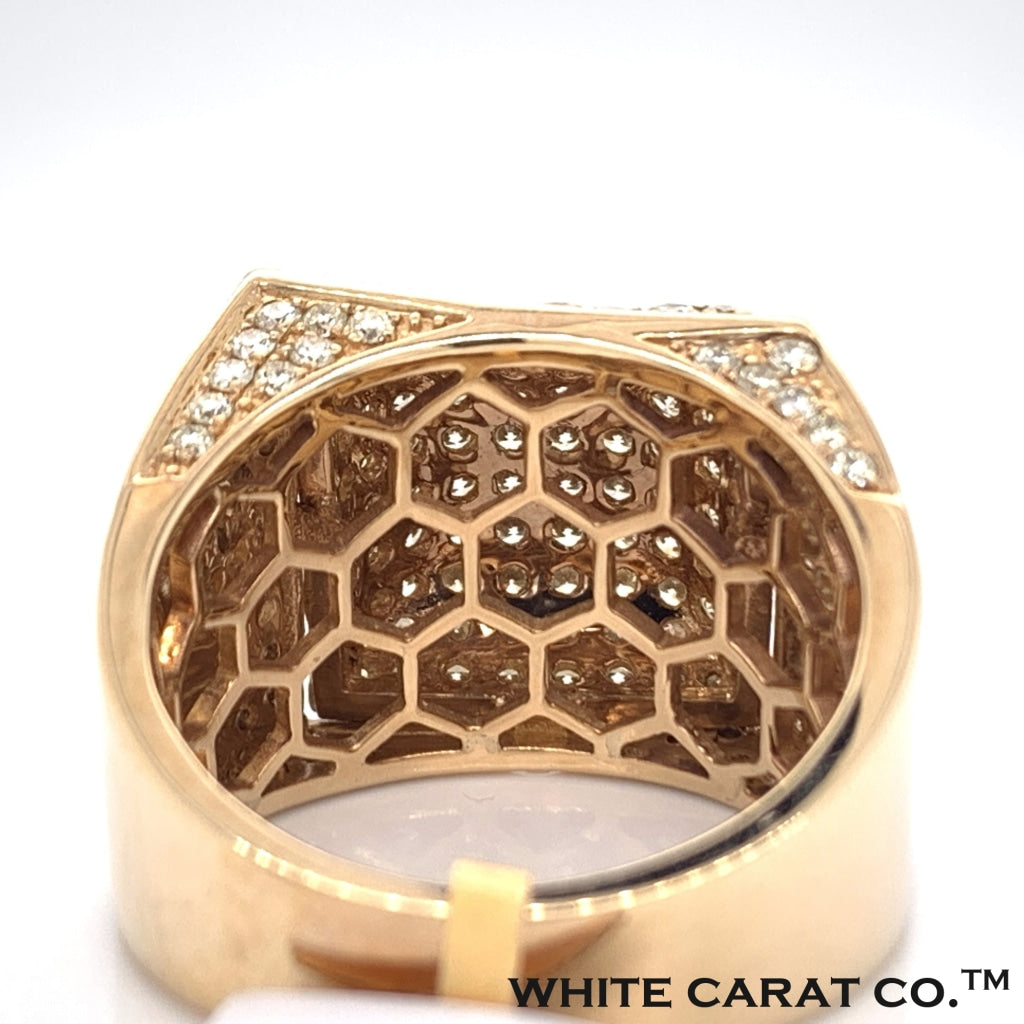 3.10CT Diamond 10K Yellow Gold Ring