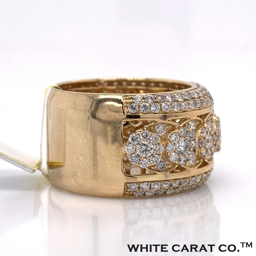 3.00CT Diamond 10K Yellow Gold Ring