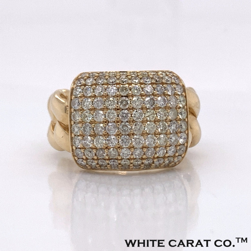 2.75CT Diamond 14K Yellow Gold Ring - White Carat Diamonds