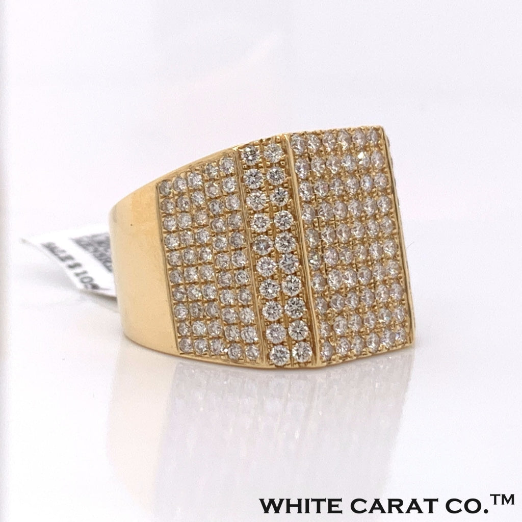3.80CT Diamond 14K Yellow Gold Ring - White Carat Diamonds