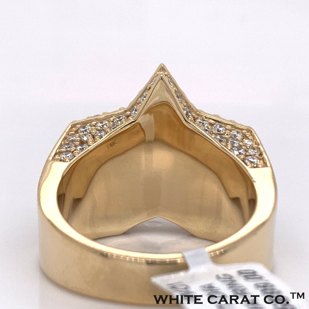 2.70CT Diamond 14K Yellow Gold Ring