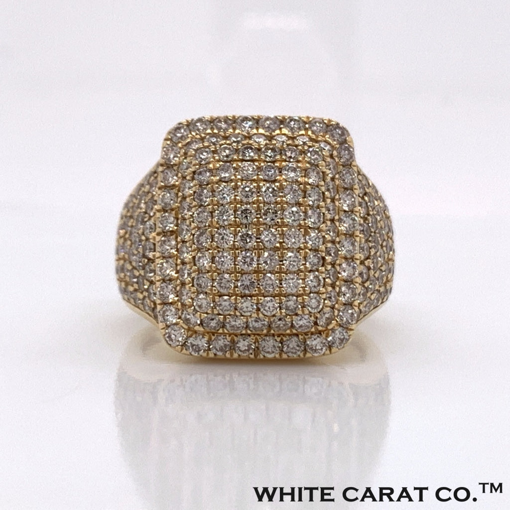 3.33CT Diamond 14K Yellow Gold Ring - White Carat Diamonds