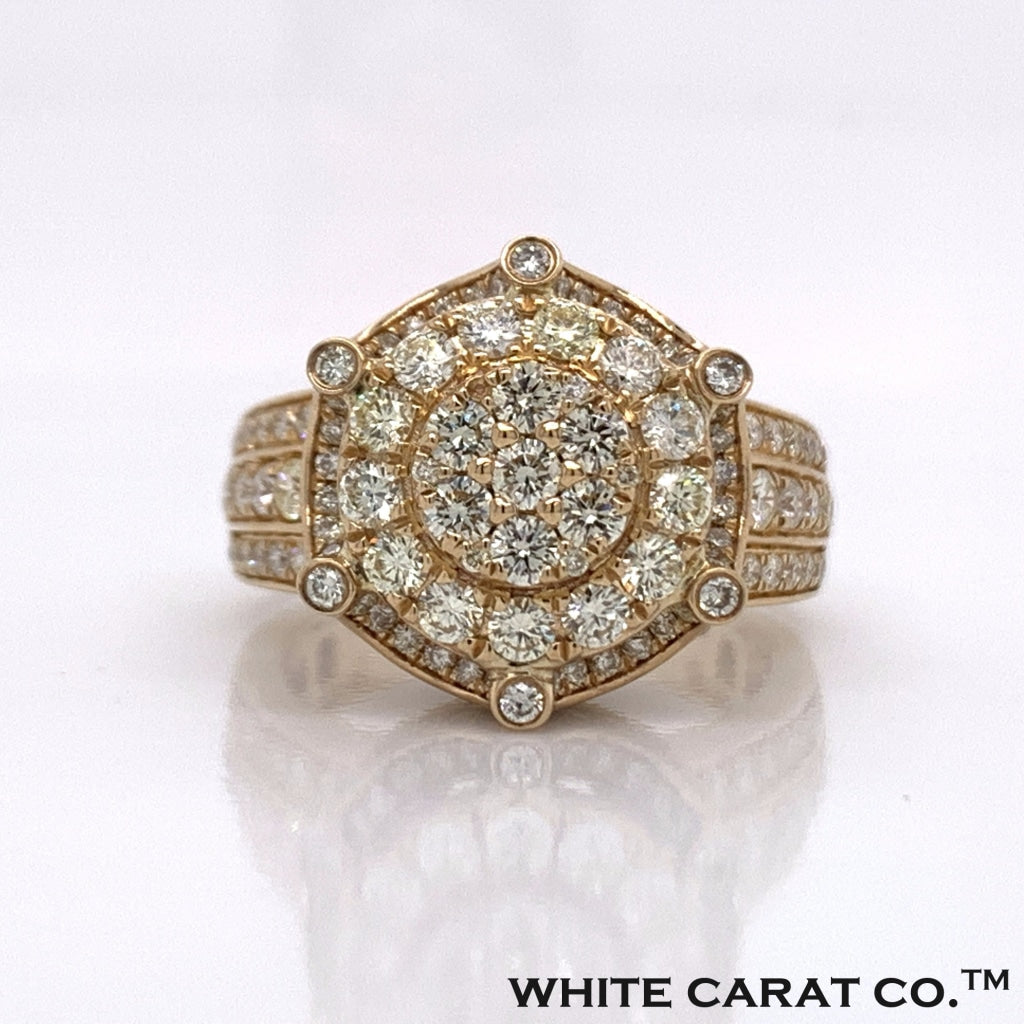 2.50CT Diamond 10K Yellow Gold Ring - White Carat - USA & Canada