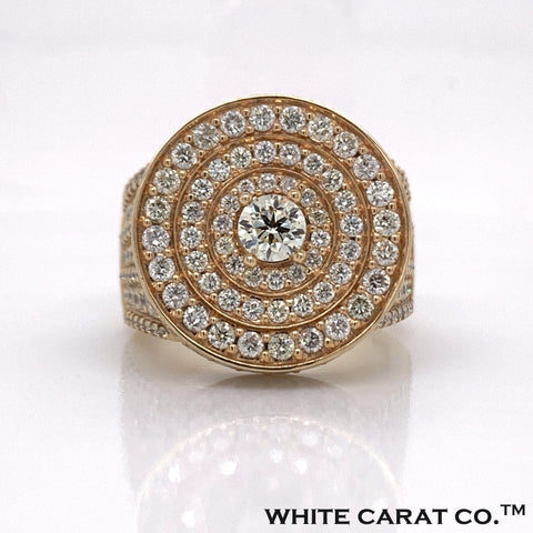 6.50CT Diamond 10K Yellow Gold Ring - White Carat - USA & Canada