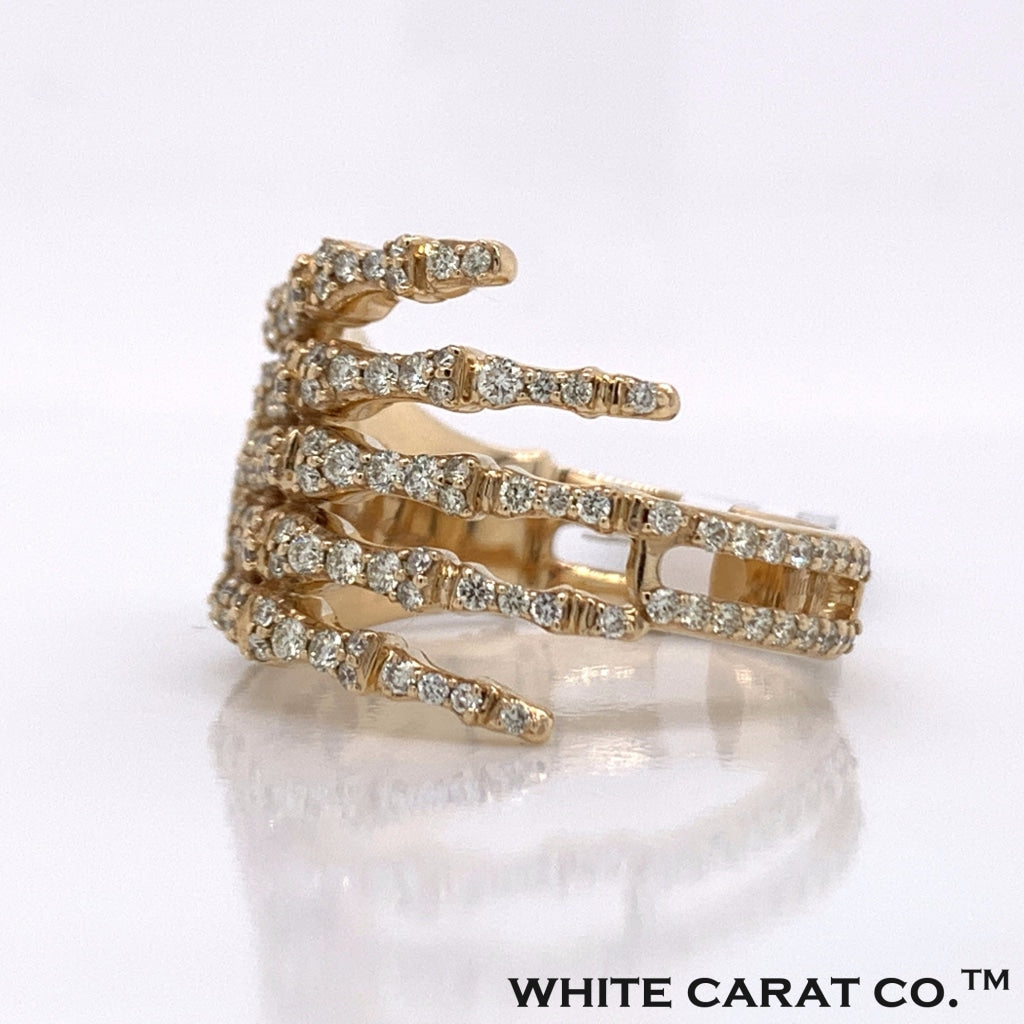 2.05CT Diamond 14K Yellow Gold Ring