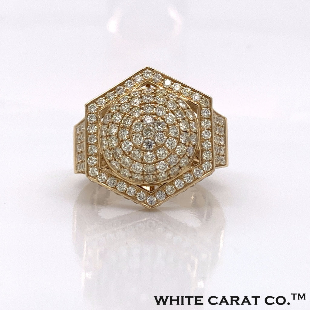 3.00CT Diamond 10K Yellow Gold Ring - White Carat Diamonds