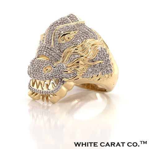 1.00 CT. Diamond Lion Ring in Gold - White Carat - USA & Canada