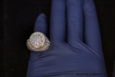 9.50 CT. Diamond 14K Gold Ring - White Carat Diamonds