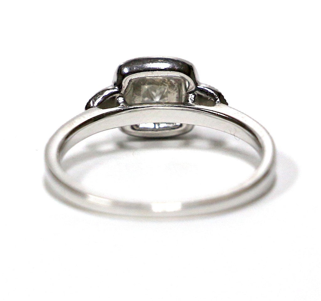0.80 CT. Diamond Engagement Ring Set in 10K White Gold - White Carat Diamonds