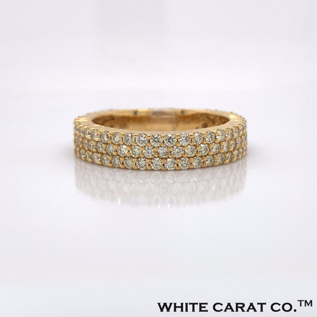 1.98CT Diamond 10K Yellow Gold Ring - White Carat - USA & Canada