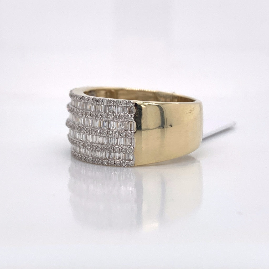 1.04CT Diamond 10K Yellow Gold Ring