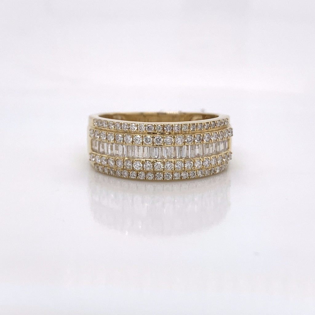 1.03CT Diamond 10K Yellow Gold Ring