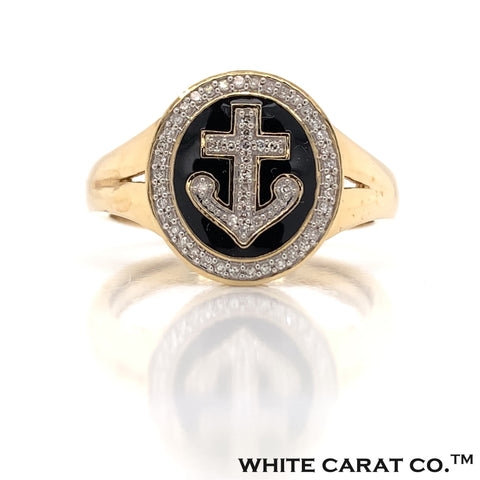 0.15 CT. Diamond Anchor Ring in Gold - White Carat - USA & Canada